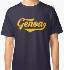 Genoa - Italy - Italia - Vintage Sports Typography Classic T-Shirt