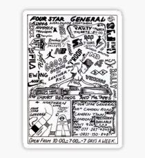 Four Star General 1991 Sticker