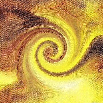 Yellow Spiral by CarolineLembke