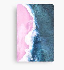 Pink Sand Meets the Ocean Metal Print