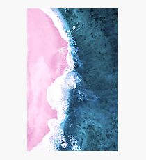 Pink Sand Meets the Ocean Photographic Print