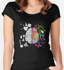 Brain Art Colors Sience Women's Fitted Scoop T-Shirt