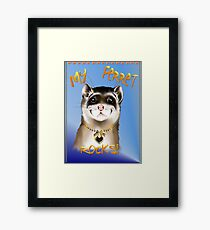 My Ferret Rocks Framed Print