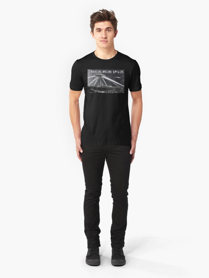 Alternate view of Terror From Space Slim Fit T-Shirt