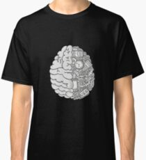 Brain Art and Sience Black and White Classic T-Shirt