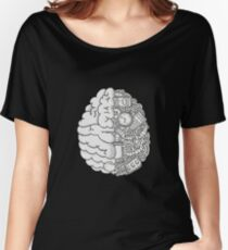 Brain Art and Sience Black and White Women's Relaxed Fit T-Shirt