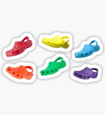 CROCS ON CROCS ON CROCS- Pack of 6 Croc Stickers Sticker