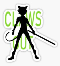 Claws Out Sticker