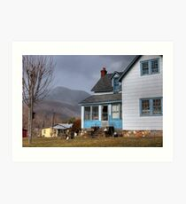 The House with Blue Trim Art Print