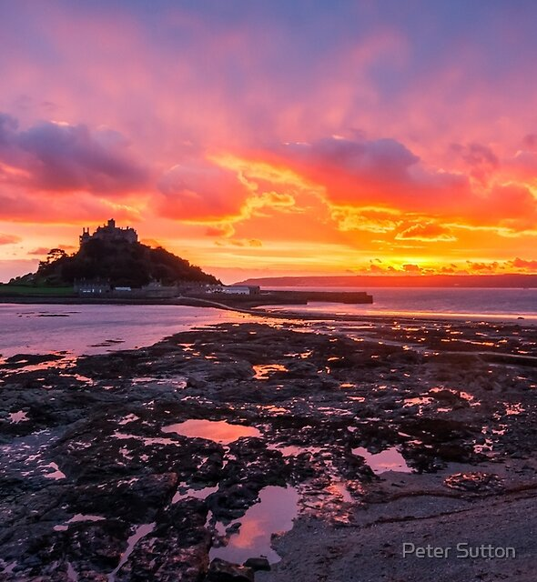 GOODNIGHT ST MICHAEL'S MOUNT by Peter Sutton