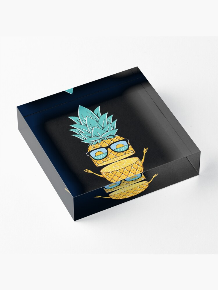 Alternate view of Pineapple Summer Sunglasses Acrylic Block