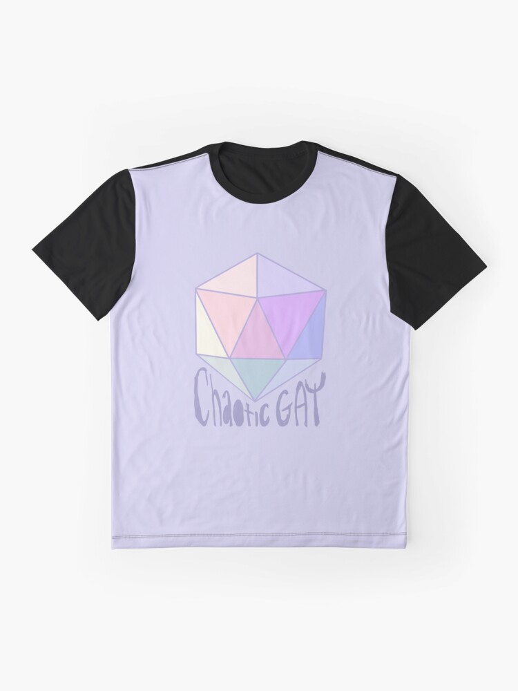 Vista alternativa de Camiseta gráfica Chaotic Gay
