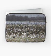 Snow Geese In The Snow Laptop Sleeve