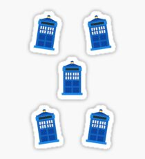 Mini Police Boxes Sticker