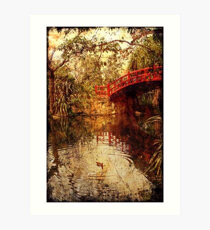 Kawasaki Bridge at Wollongong Botanic Gardens  - ghost Art Print