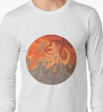 Roiling Sea and Flame Long Sleeve T-Shirt