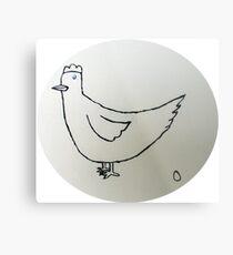 Hen - Poule - Martin Boisvert Impression métallique