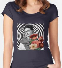 Frida in Flowers Women's Fitted Scoop T-Shirt