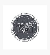 Camera with stars Photographic Print