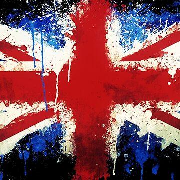 Splattered Union Jack by Delta12Designs