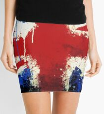 Splattered Union Jack Mini Skirt