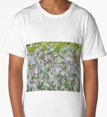 Summer image with flowers blowing in the wind. Long T-Shirt