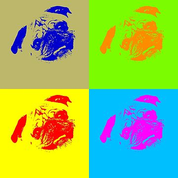 Pug Andy Warhole Pop Culture by dubdesign