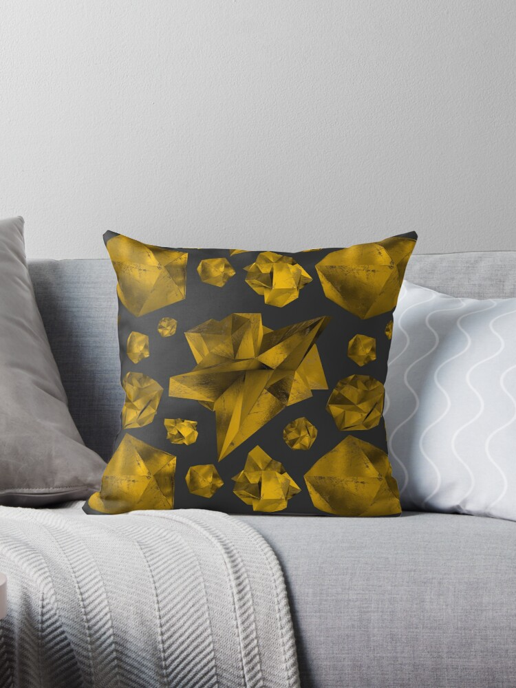 Geometric Gold and Black | Abstract by Slackr