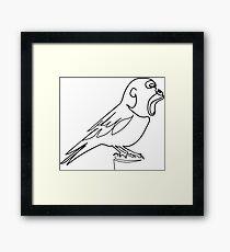 Gorilla bird Framed Print
