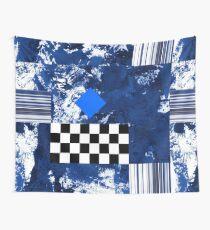 Blue Diamond Wall Tapestry