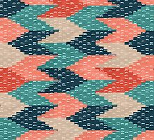 Kilim Weaving Structure Persian Green by Markéta Stengl
