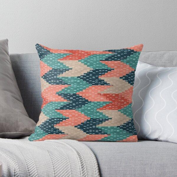 Kilim Weaving Structure Persian Green Throw Pillow