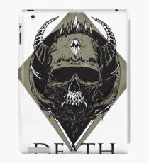 skull death heavy metal viking hell illuminati symbol man biker father dad black music hard rock  iPad Case/Skin