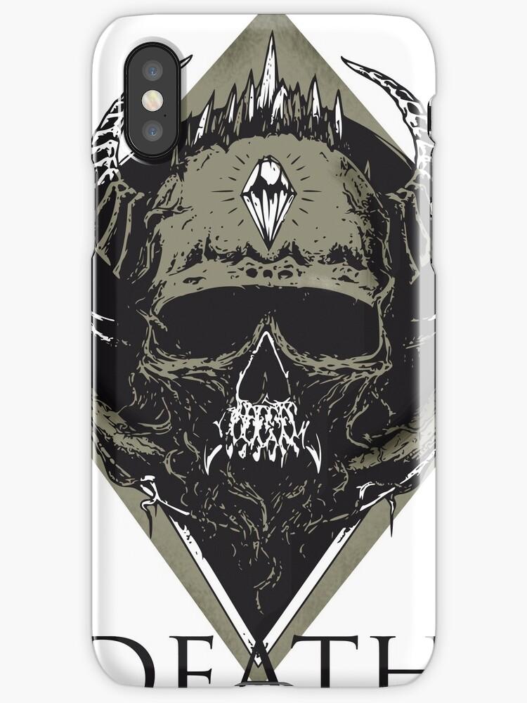 Skull Death Heavy Metal Viking Hell Illuminati Symbol Man Biker