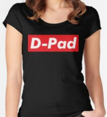 D-Pad / Words That Mean Something Totally Different When You're A Gamer  Women's Fitted Scoop T-Shirt