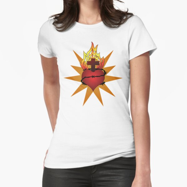 Sacred Heart (large) Fitted T-Shirt