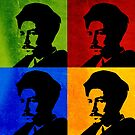EZRA POUND ILLUSTRATION, 4-UP POP ART COLLAGE by Clifford Hayes