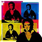 PERCY BYSSHE SHELLEY, 4-UP COLLAGE ILLUSTRATION by Clifford Hayes