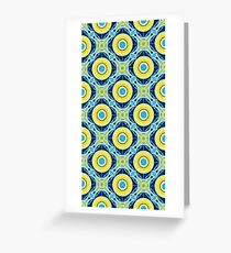 Spanish Tile - flower yellow Greeting Card