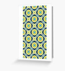 Spanish Tile - flower  Greeting Card