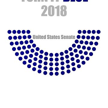 Turn it Blue 2018 , Blue Wave by EncodedShirts