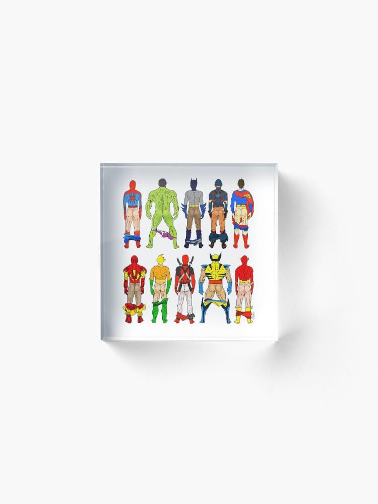 Alternate view of Superhero Butts Acrylic Block