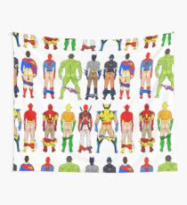 9ab20a73d2 Superhero Butts Wall Tapestry