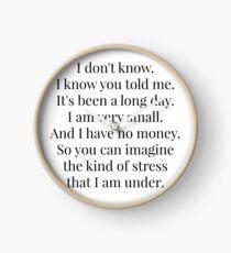 I am very small Clock