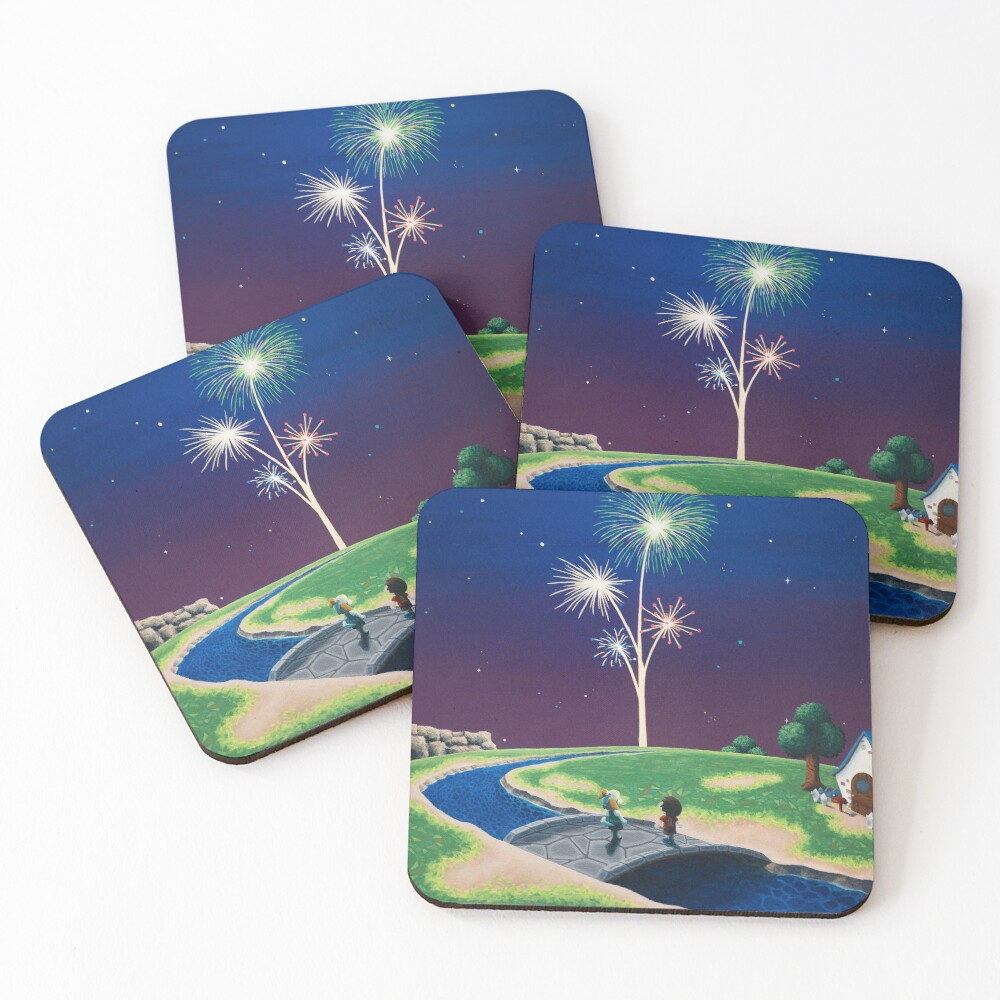New Year Coasters (Set of 4)