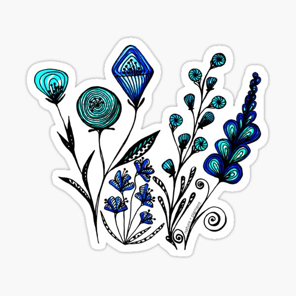 Doodle Blooms Sticker