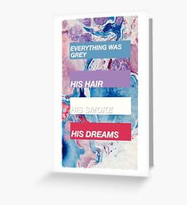 Halsey colours Greeting Card