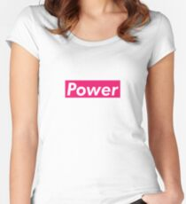 Power Supreme Box Logo Parody Women's Fitted Scoop T-Shirt