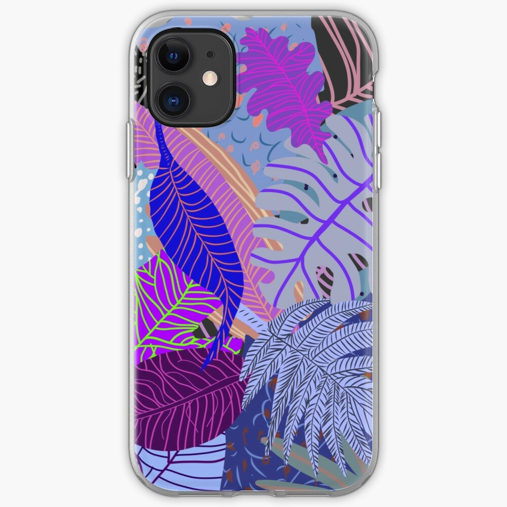 Ultraviolet Fade Nature Leaves iPhone Case & Cover