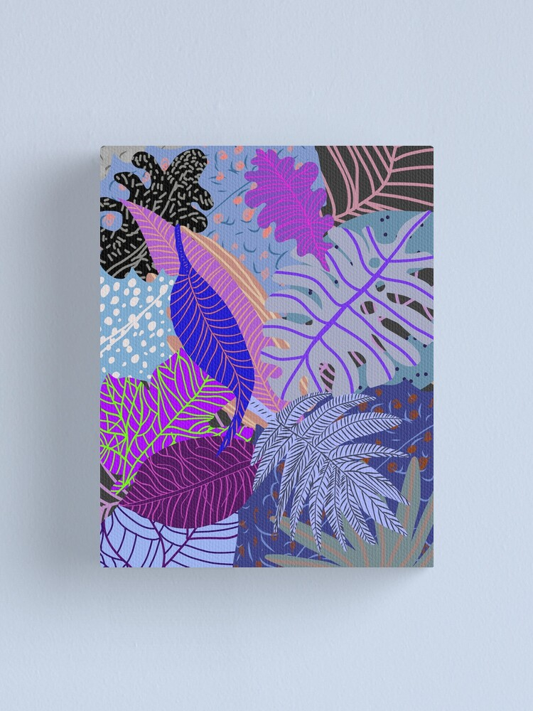 Alternate view of Ultraviolet Fade Nature Leaves Canvas Print